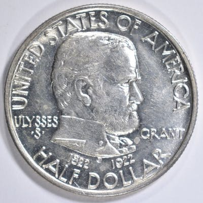 1922 GRANT COMMEM HALF DOLLAR GEM BU
