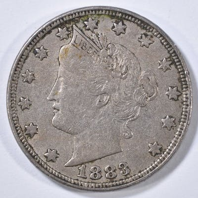 1883 LIBERTY HEAD NICKEL WITH CENTS XF