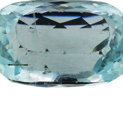 12.41 ct.Natural Cushion Cut Aquamarine
