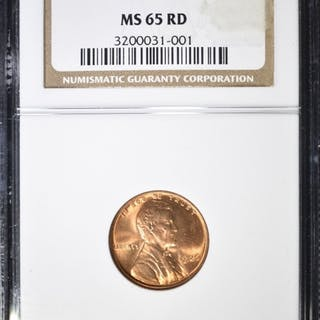 1926 LINCOLN CENT NGC MS-65 RD
