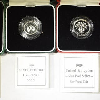 ROYAL MINT OF ENGLAND STERLING SILVER COINS