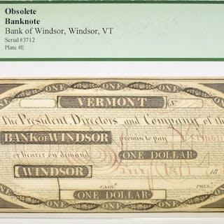 1838 $1 OBSOLETE BANKNOTE PCGS 65 PPQ
