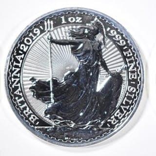 3-BU 2019 1oz SILVER BRITISH BRITANNIA COINS
