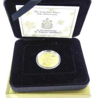 The Canadian Flags - 25th Anniversary $200.00 Gold
