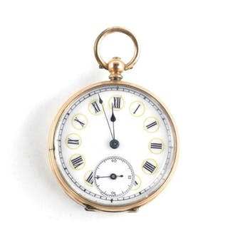 Estate - 9kt Gold Case Key Wind Pocket Watch