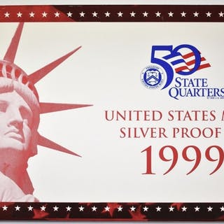 1999 US SILVER PROOF SET W/ COA