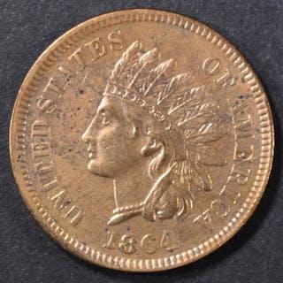 1864 L INDIAN CENT AU+
