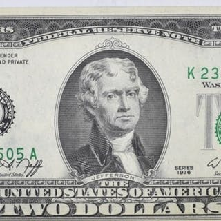 1976 $2 LEGAL TENDER GEM CU
