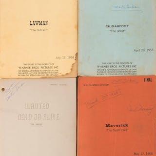 Martin Landau (5) personal early television Westerns shooting scripts