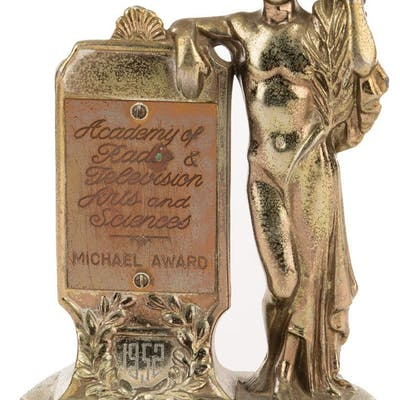 I Love Lucy 1952 'Best Situation Comedy Program' Michael Award trophy.
