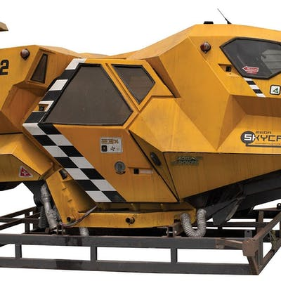 Judge Dredd Flying Taxi prop vehicle.
