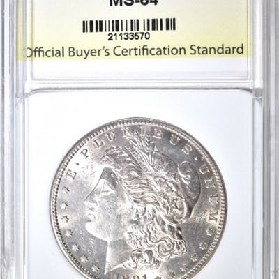 1891-S MORGAN DOLLAR, OBCS CH/GEM BU