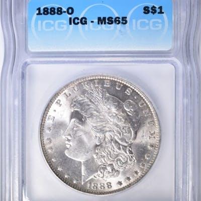 1888-O MORGAN DOLLAR ICG MS-65