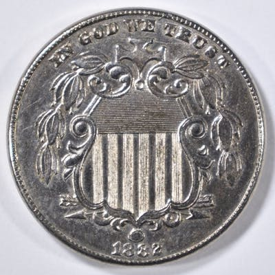 1882 SHIELD NICKEL CH BU