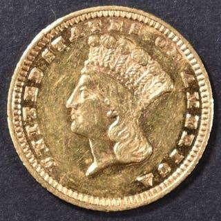 1884 $1 GOLD INDIAN PRINCESS BU PL