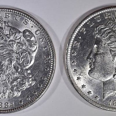 1884 & 1884-O BU MORGAN DOLLARS