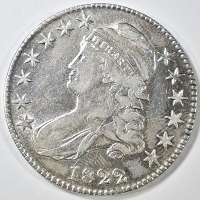 1822 BUST HALF DOLLAR XF/AU