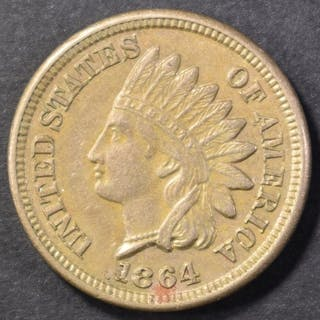 1864 CN INDIAN CENT, CH BU NICE!!!