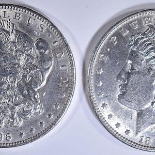 2-BU 1896 MORGAN DOLLARS