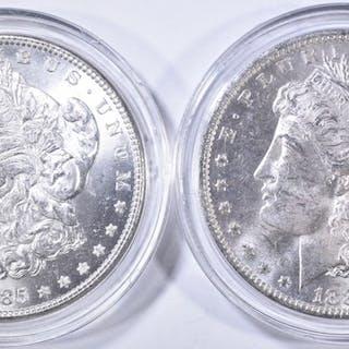 1885 & 85-O CH BU MORGAN DOLLARS IN CAPSULES
