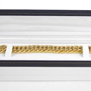 18kt Gold Plated over Sterling Steel Bracelet