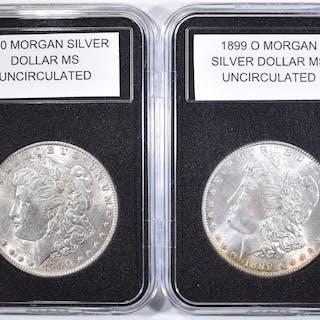 1899-O & 1900 UNC MORGAN DOLLARS