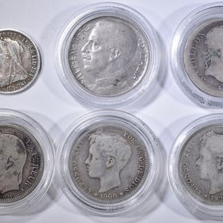 6 FOREIGN COIN LOT: