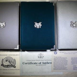 1986, 90, 91 U.S. PRESTIGE PROOF SETS