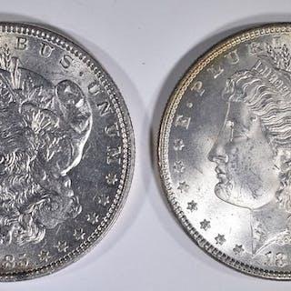 2 1885 MORGAN DOLLARS CH BU