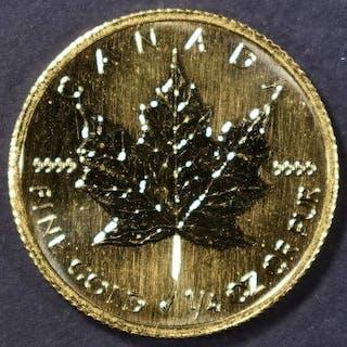 2002 CANDAIAN 1/4 Oz GOLD MAPLE LEAF
