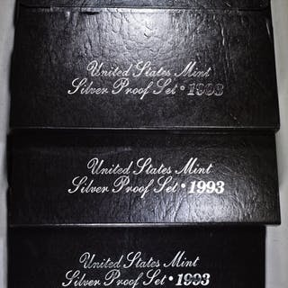 3-1993 U.S. SILVER PROOF SETS