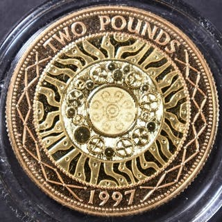 1997 UK 2 POUNDS GOLD COIN 14.63 GRAM AGW