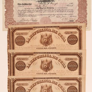Cuba Mining Stock Certificates & Bonds 106776