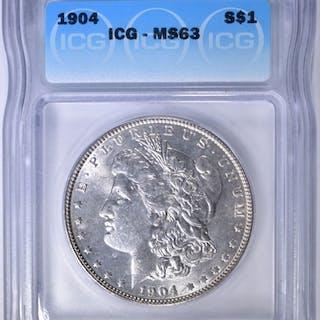 1904 MORGAN DOLLAR ICG MS-63