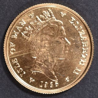 1985 1/10th oz GOLD ISLE OF MAN ANGEL