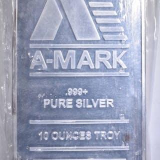 TEN OUNCE .999 SILVER BAR A-MARK