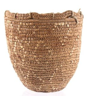 Northwest Coast Indian Hand Woven Gatherers Basket