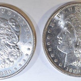 1880 & 1890 MORGAN DOLLARS BU