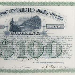 Graphic Consolidated Mining & Milling Co. Bond, 1883 #60488