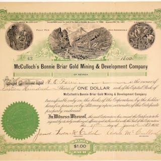 McCulloch's Bonnie Briar Gold Mining and Development Stock #61718