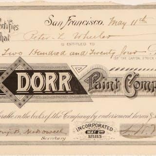 Dorr Paint Company Stock #103544
