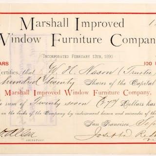 Marshall Improved Window Furniture Company Stock #90497