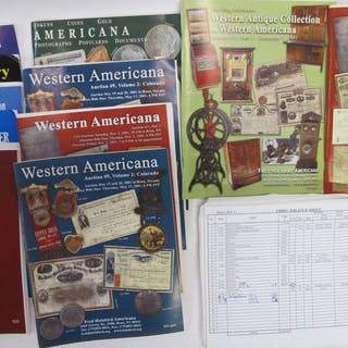 Box Full of Stocks and Western American Auction Catalogs #63334