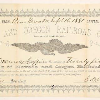 Nevada and Oregon Railroad Co #83751