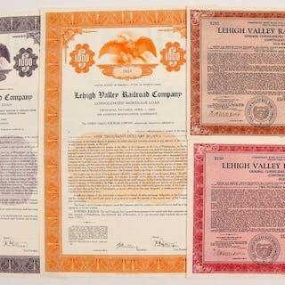 Lehigh Valley Railroad Mortgage Bonds (4) #84964