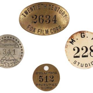 Movie Studio golden age employee vintage metal ID tags.