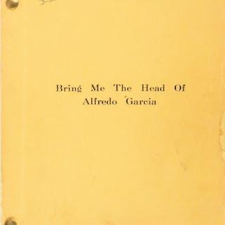 Sam Peckinpah personal file copy script for Bring Me the Head of Alfredo