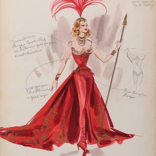 Tamara Toumanova 'Gaby Deslys' (2) costume sketches by Helen Rose