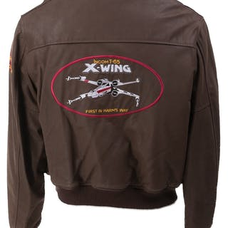 Skywalker Ranch leather 'X-Wing' bomber jacket gifted to Fox executives.