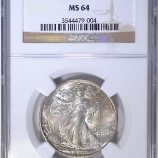 1936 WALKING LIBERTY HALF DOLLAR NGC MS-64